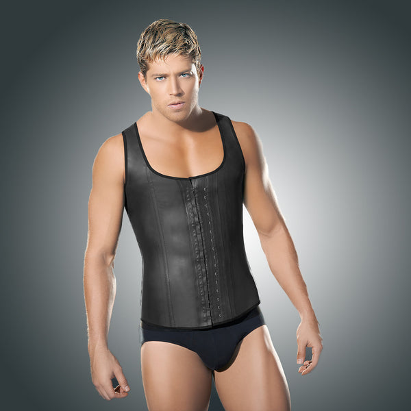 d1151b1da2 Steel Boned Latex Waist Trainer Vest for MEN - IMEE.Co