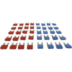 40 PIECE ATM MINI BLADE FUSE ASSORTMENT (20) x 10 AMP BLUE (20) x 15 AMP RED - Hopek Hardware Plus