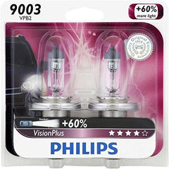 Philips 9003VPB2 VisionPlus Headlights Pack of 2