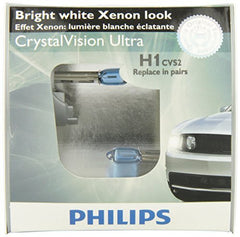 Philips H1 CrystalVision ultra Upgrade Headlight Bulb (Pack of 2)