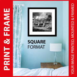 PRINT & FRAME.  SQUARE FORMAT.  Your Image Printed Mounted and Framed