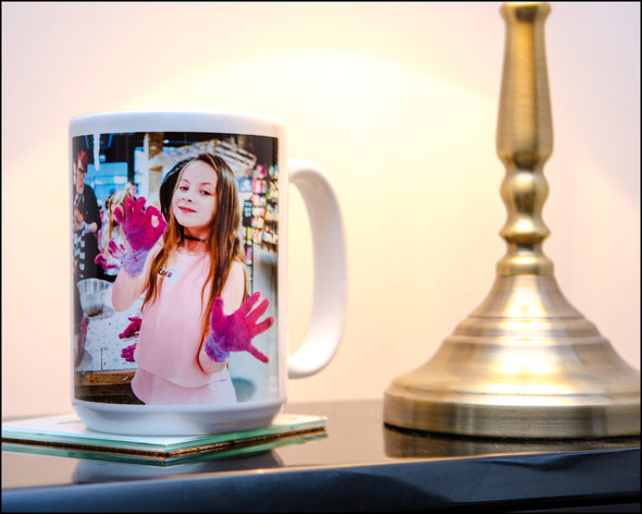 Family Banter Message + Personal Photo onto Monster Mug - Great Sibling Gift