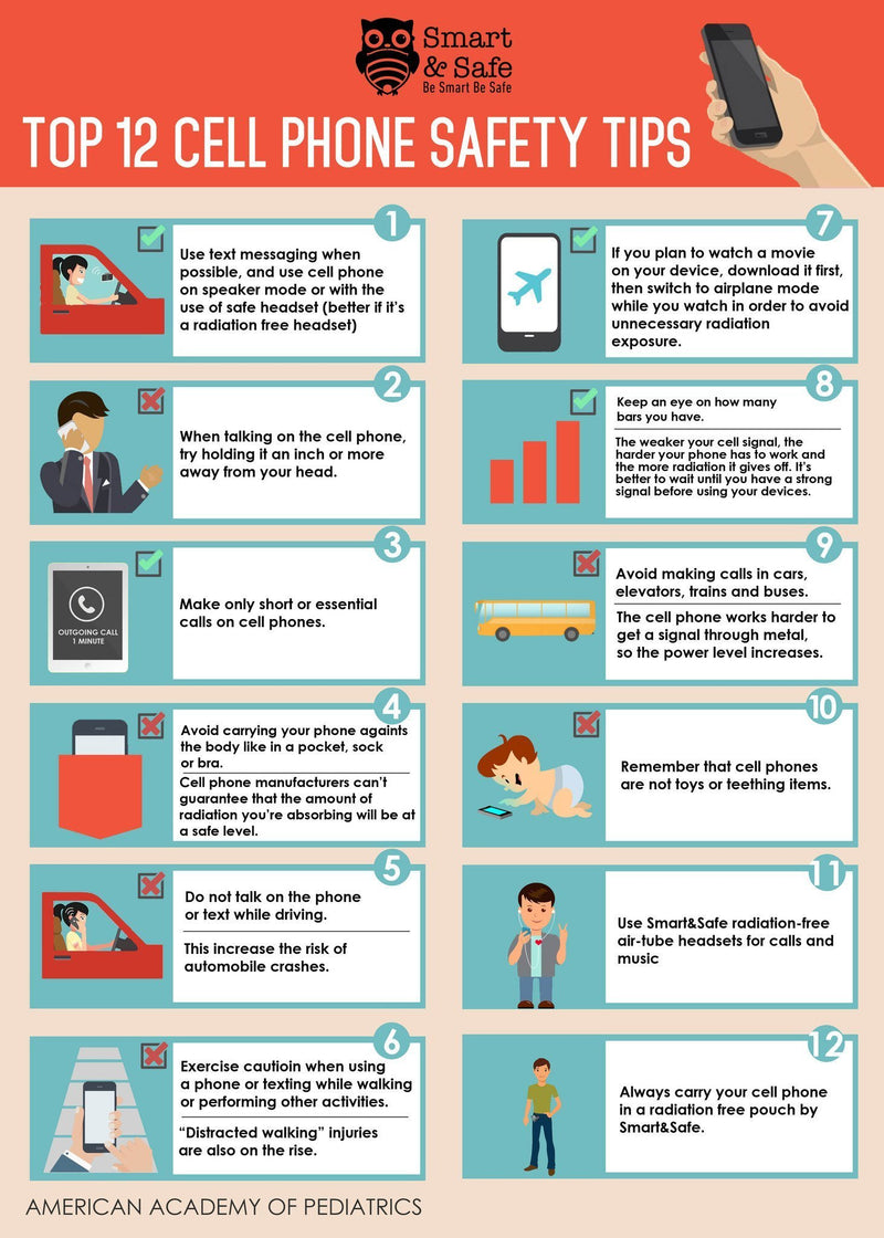 Top 12 cell phone safety tips