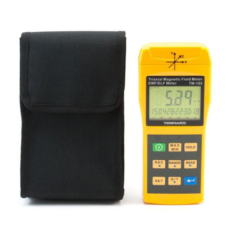 Image of  Radiation Free Air Tube Headsets Electromagnetic radiation tester Refurbished EMF METER Tenmars TM-192D 3-Axis Gaussmeter EMF ELF Magnetic Field Gauss Meter with 30 - 2000Hz
