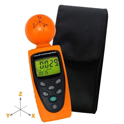 Image of Smart&Safe EMF Solutions Electromagnetic radiation tester Tenmars TM-195 3-Axis RF Field Strength Meter Tester 50MHz to 3.5GHz