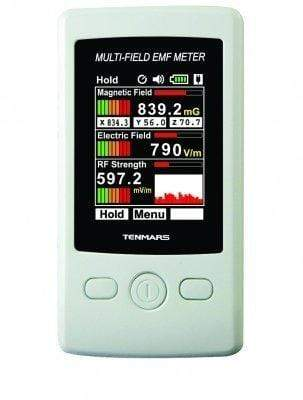 Image of Smart&Safe Radiation Free Products Electromagnetic radiation tester EMF Meter Tenmars TM-190 Multi Field