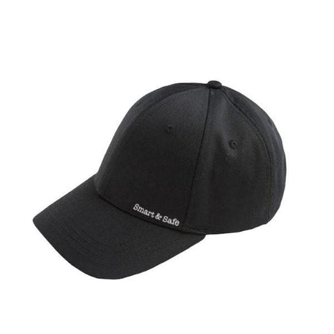 Smart&Safe Radiation Free Products EMF Apparel Black EMF Radiation Shielding Baseball Cap 40GHz Tested
