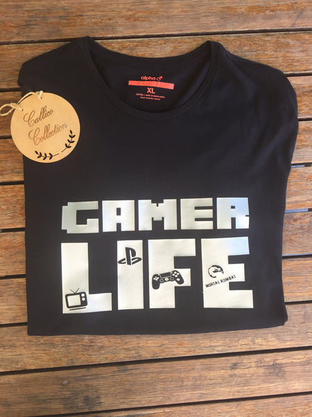 Gamer Life tees - PlayStation or Xbox inspired