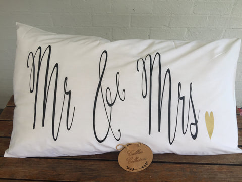 Mr & Mrs Pillowcase Standard size
