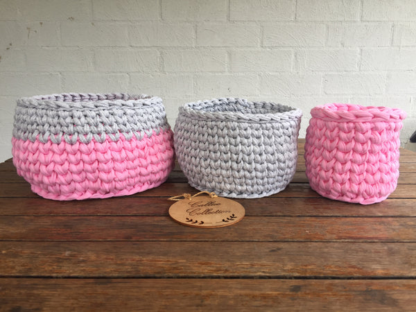 CUSTOM Crochet Baskets
