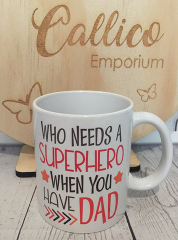 Superhero DAD 11oz mug