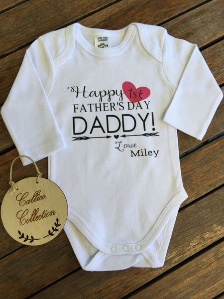 1st Fathers Day Onesie