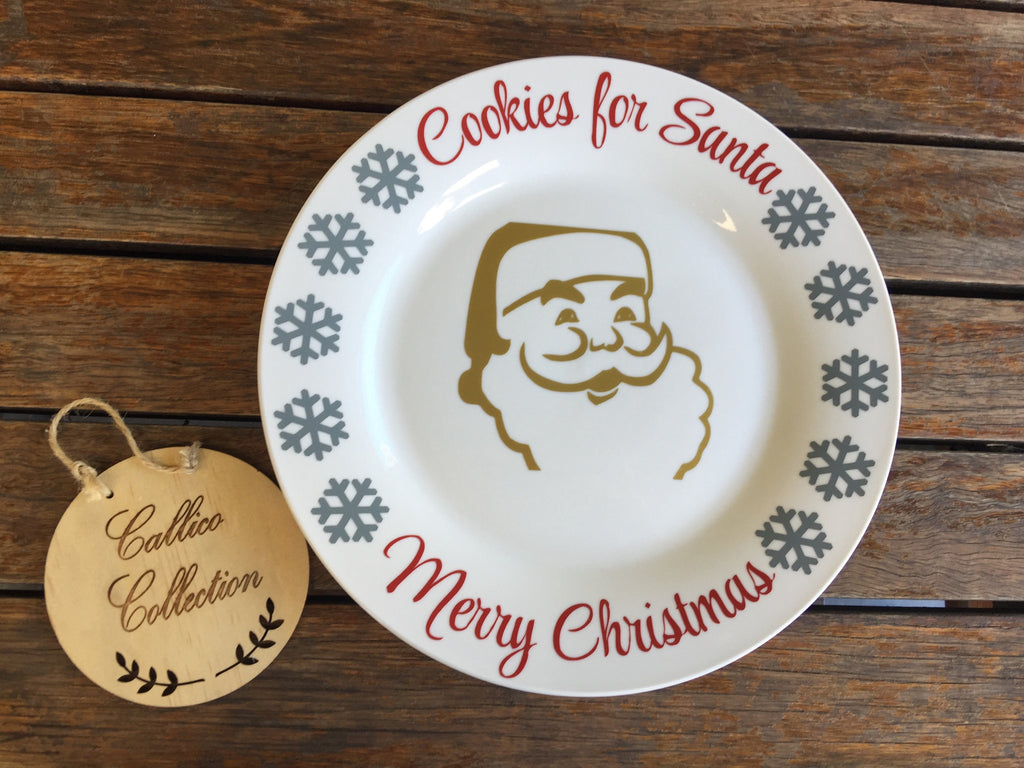 Cookies For Santa - Merry Christmas plate