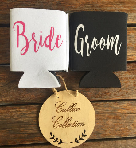 Bride & Groom Stubby Holders