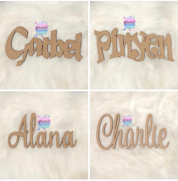 ACRYLIC NAME CUTOUT - 3MM
