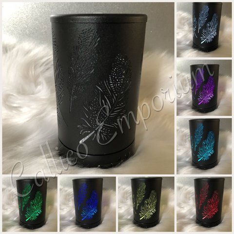 BLACK FEATHER COLOUR CHANGING OIL DIFFUSER