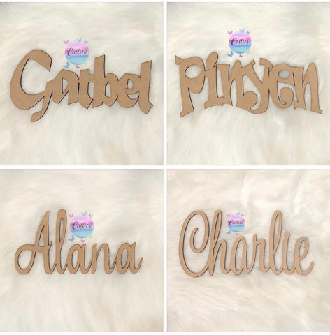 NAME CUTOUT - 3MM MDF 30cm x 15cm