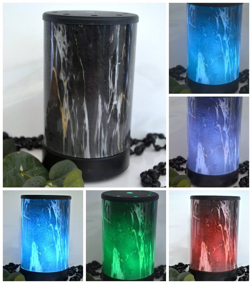 Ultrasonic Marble Look Oil Diffuser Electric Colour Changing