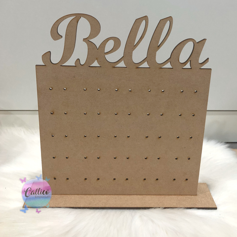 Personalised Stud Earring Holder with stand