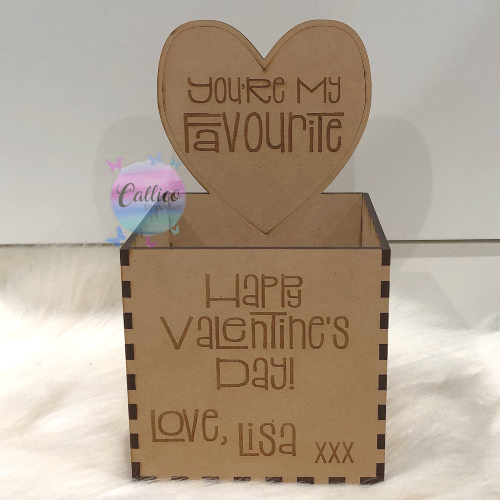 Happy Valentine's Day Personalised Sweets Box