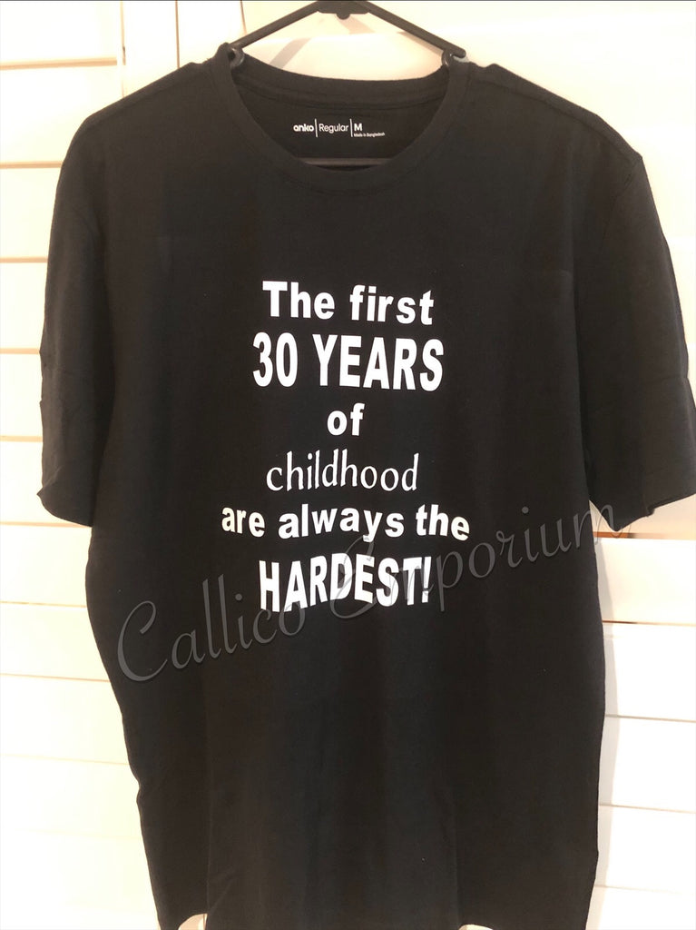 FIRST 30 YEARS MENS TEE
