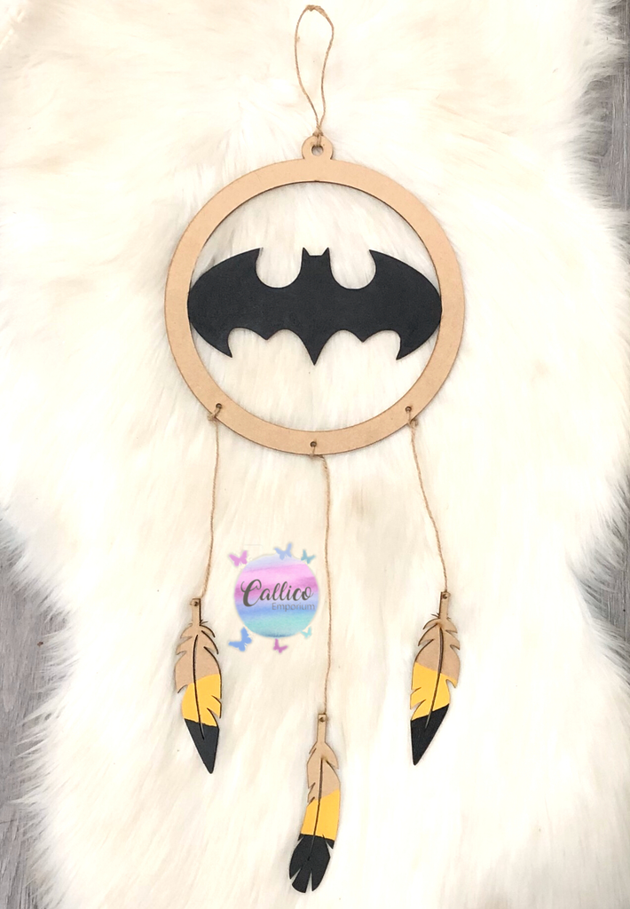 Bat Dreamcatcher Wall Hanging