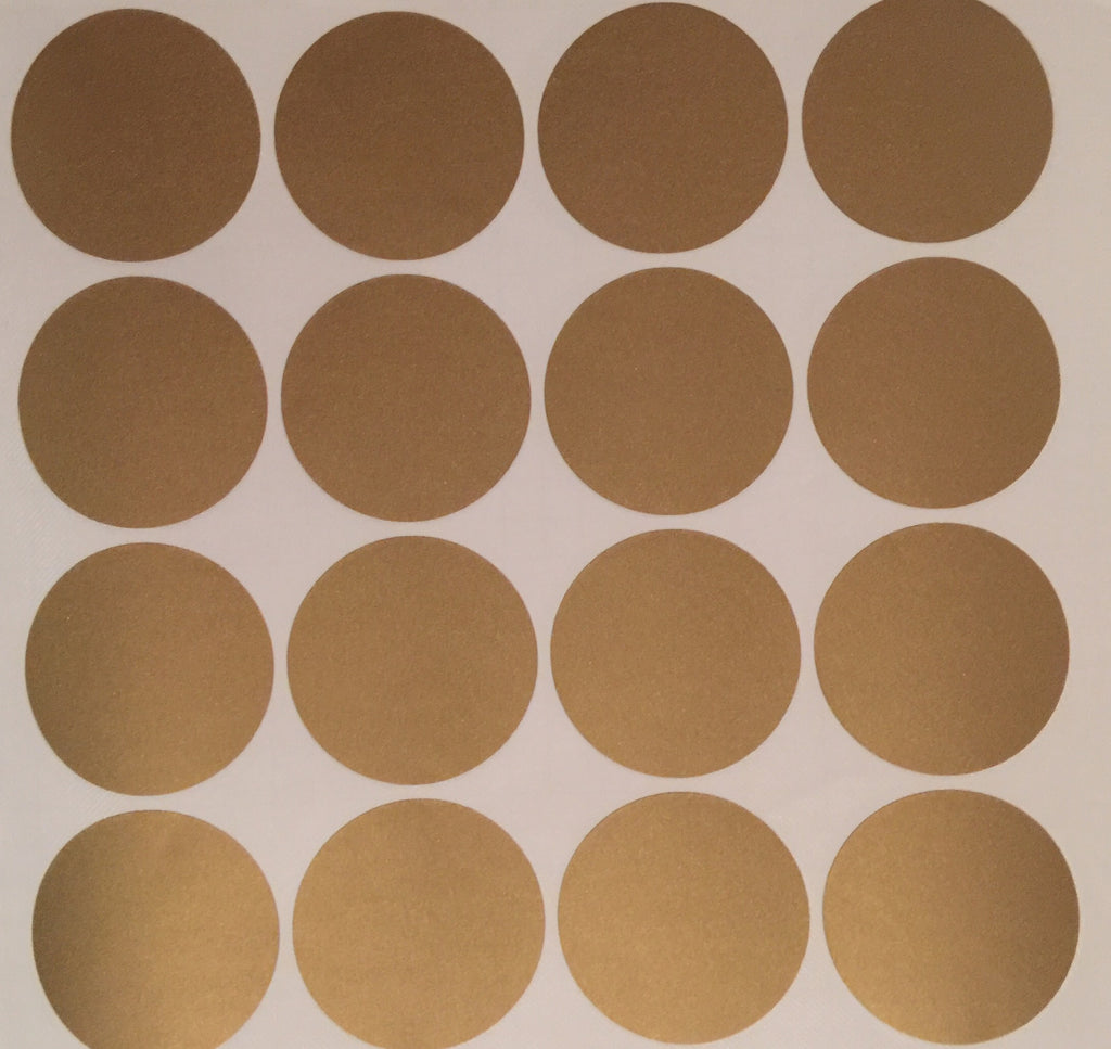 Gold Dots Removeable Vinyl Wall Decals