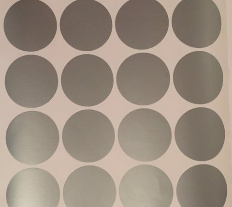 Silver Dots Removeable Vinyl Wall Decals