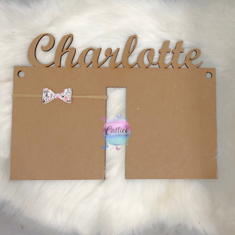 Personalised Bow / Headband Holder