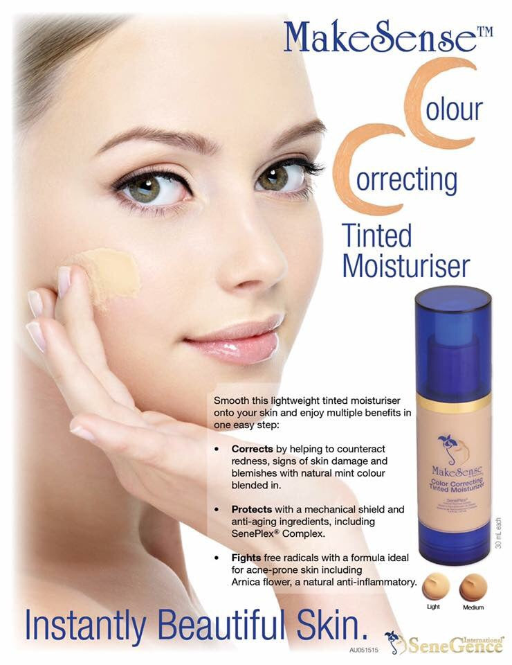 COLOUR CORRECTING TINTED MOISTURISER IN LIGHT BY SENEGENCE