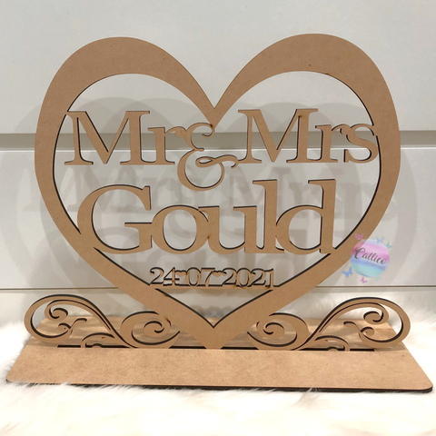 Personalised Wedding Table Sign