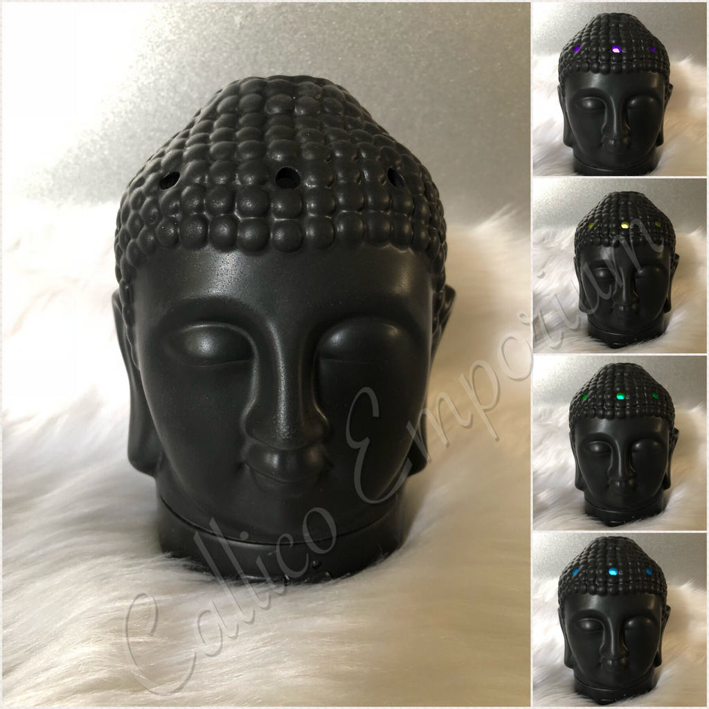BLACK OR WHITE BUDDHA HEAD COLOUR CHANGING OIL DIFFUSER