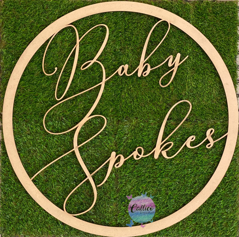 Baby Surname Baby Shower Hoop Decoration