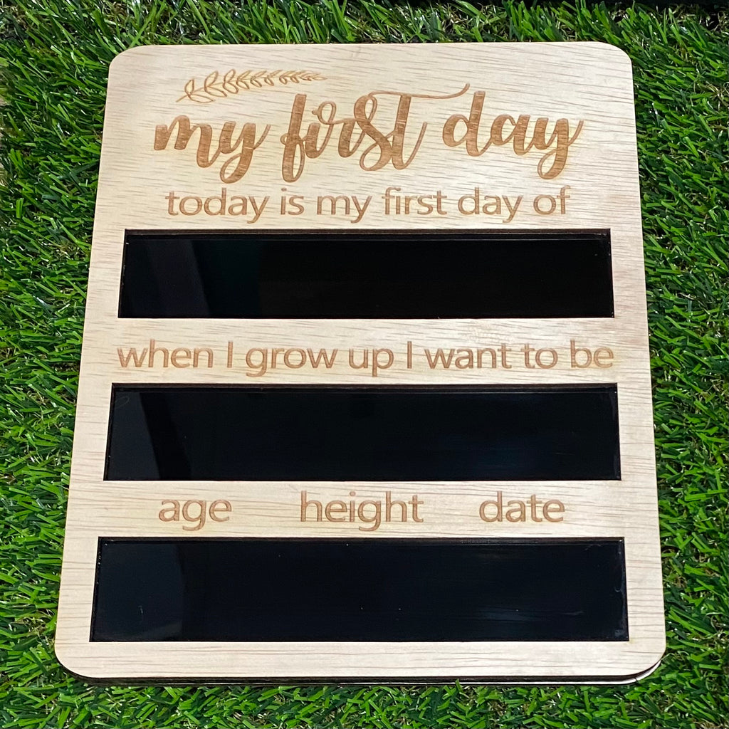 First/Last Day of School Wooden Milestone Board Design 2