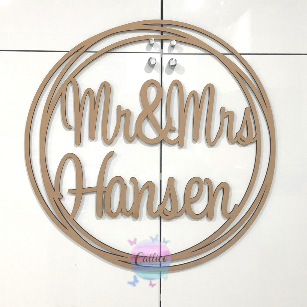 Personalised Mr & Mrs Wedding Hoop Decoration