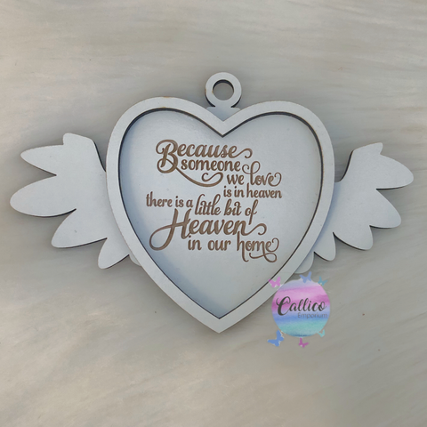 Because Someone We Love Is in Heaven - Engraved Christmas Tree Ornament