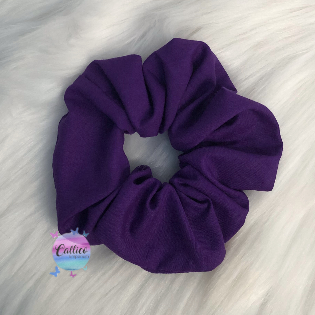 Deep Purple Large Scrunchie