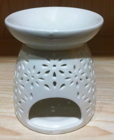 White Tealight Burner