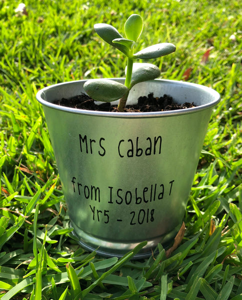Thanks for helping me grow personalised flower pot