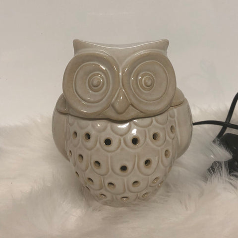 White Hoot Electric Warmer