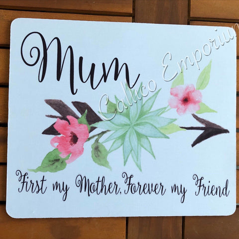Mum Floral Arrow Mousepad