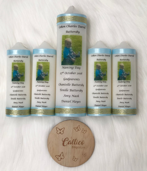 Personalised Occasion Candle - Baptism/Christening/Naming Day