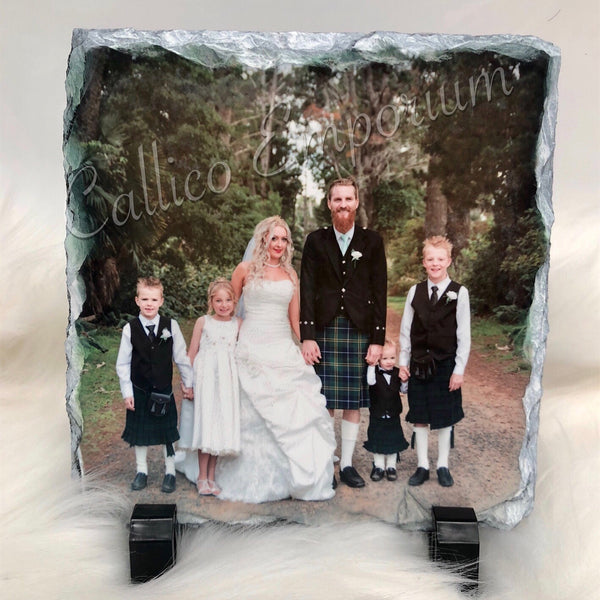 Custom Photo Rock Slate -  Small Rectangle