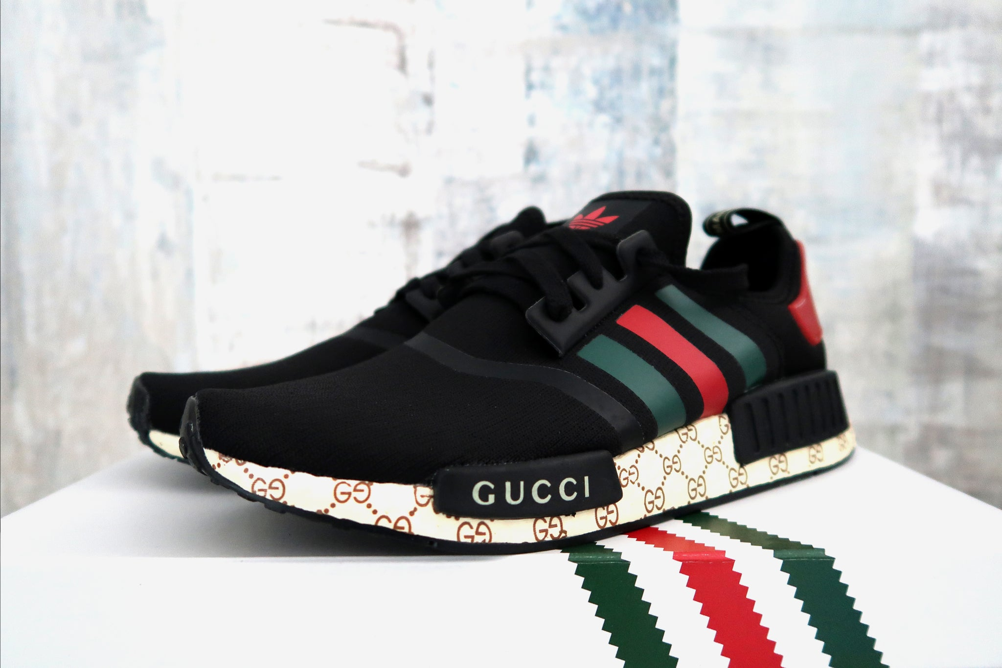 d0a1f009d Adidas NMD Black Custom Gucci Shoe – ASSC.one