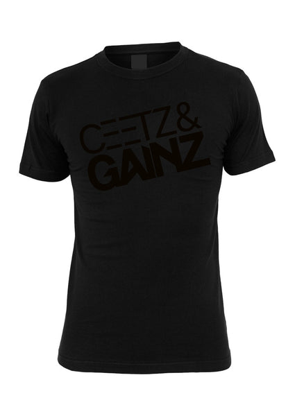 Ceetz & Gainz Tee BIGPRINT Black
