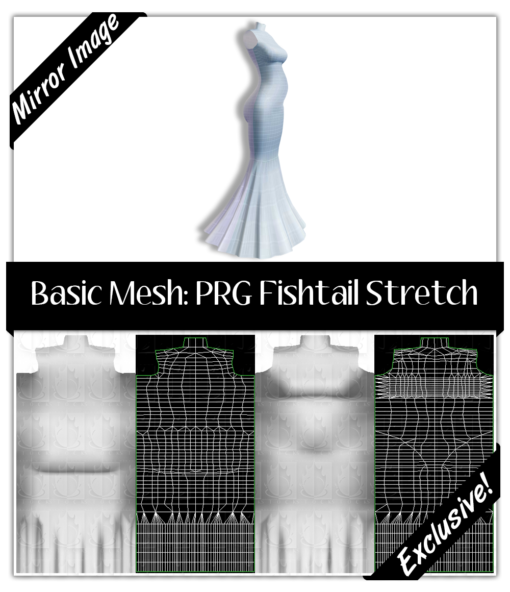 Basic Mesh: Pregnant Fishtail Stretch