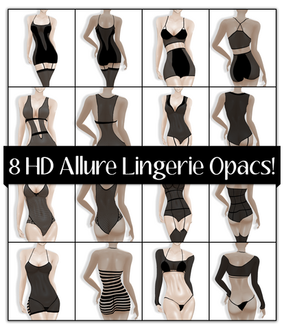 8 HD Allure Lingerie Oapcs- Sheer Pack 1