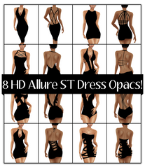 8 HD Allure Skintight Dress Opacs: Strap Pack 1