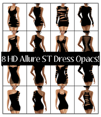 8 HD Allure Skintight Dress Opacs: Slit Pack 1