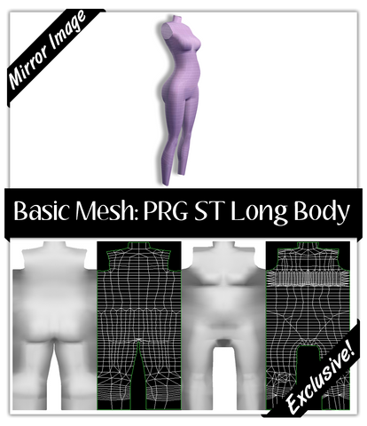 Basic Mesh: Pregnant Skintight Body Long